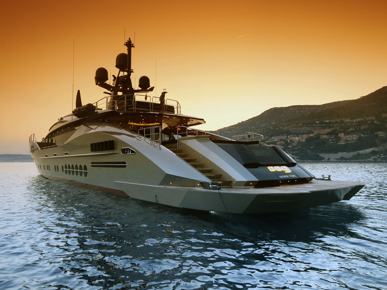 Another Palmer Johnson Yacht At Sunset - PJ 170