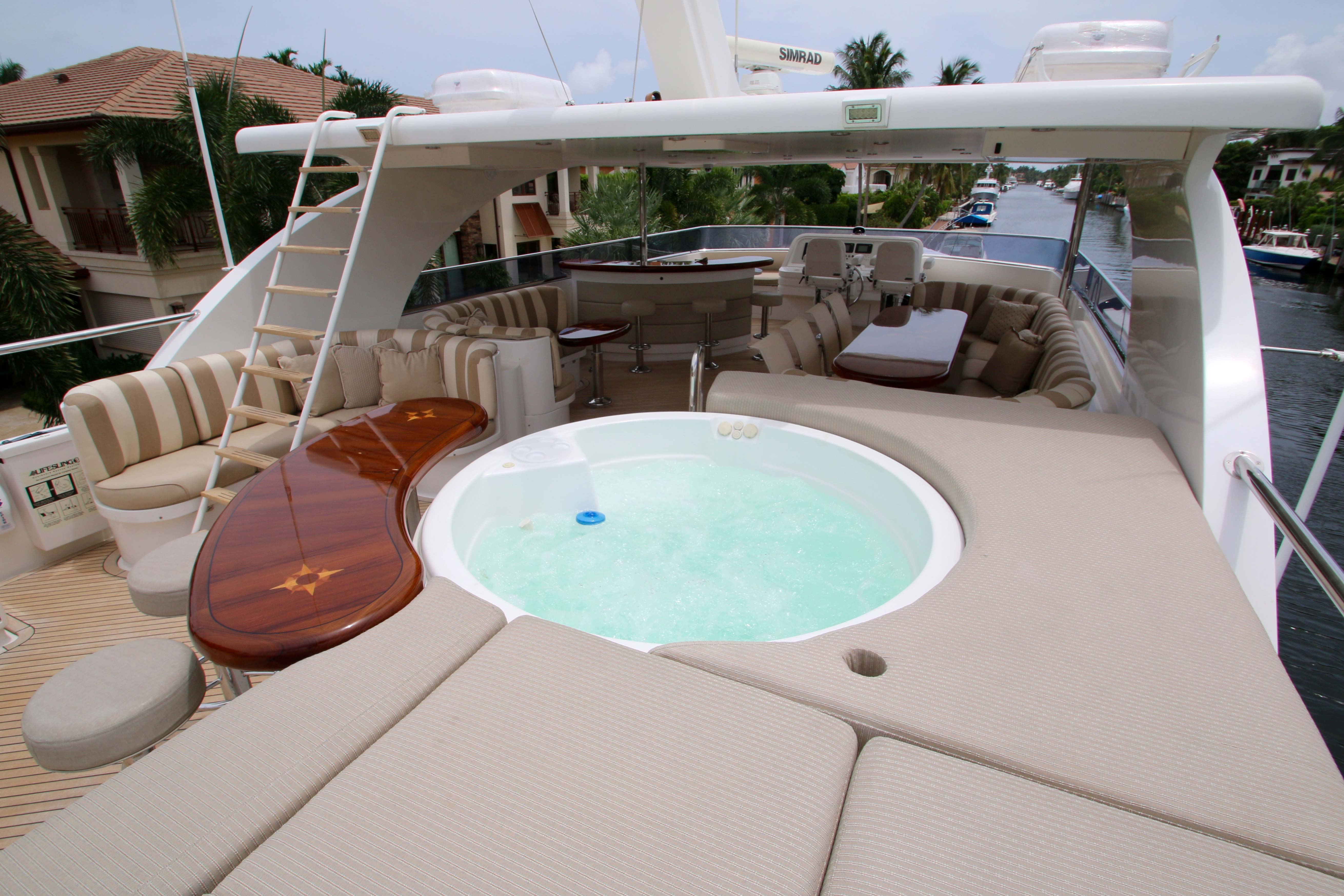 Jacuzzi On Sundeck Of EXIT STRATEGY