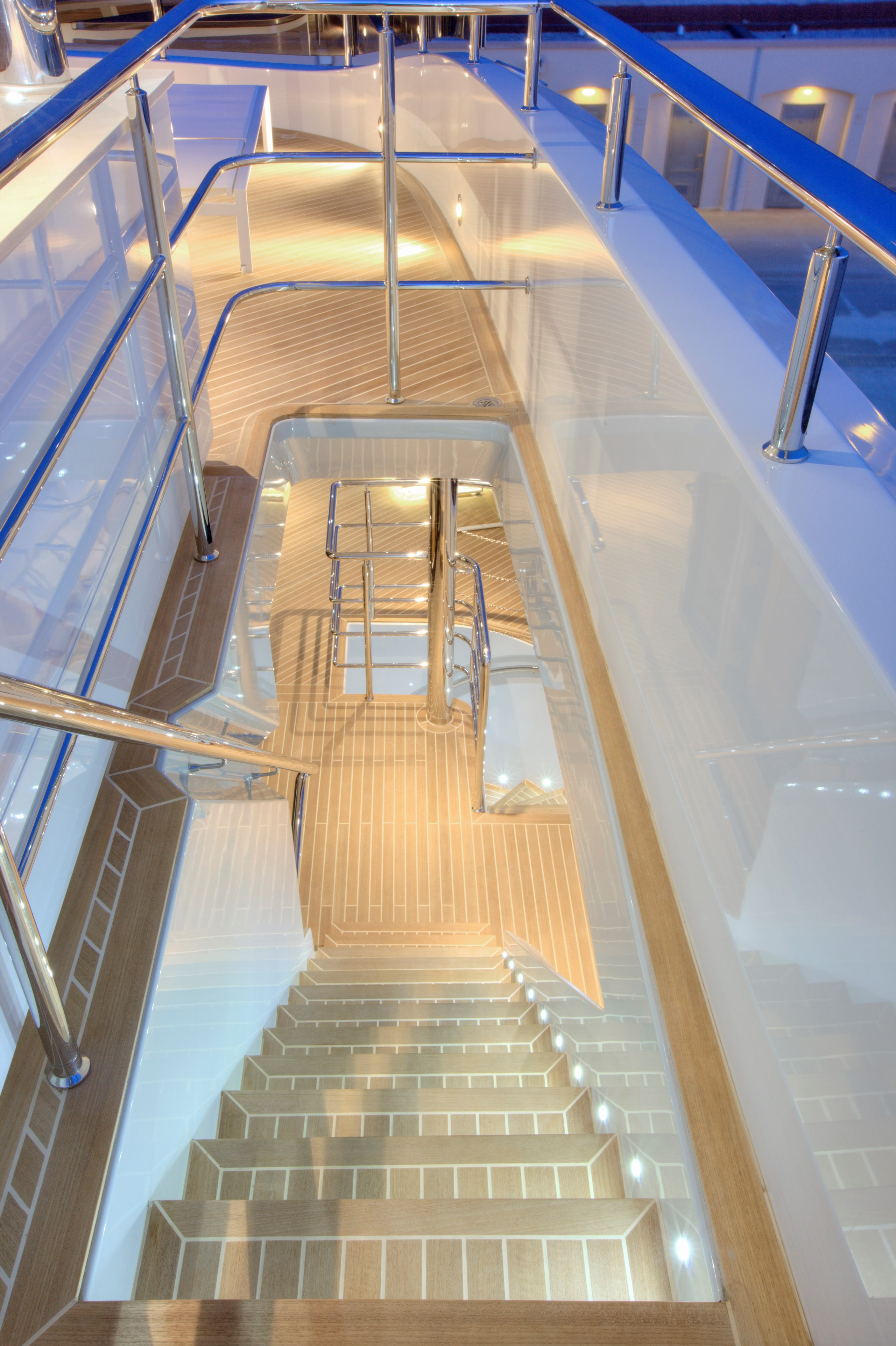 Sundeck stairs