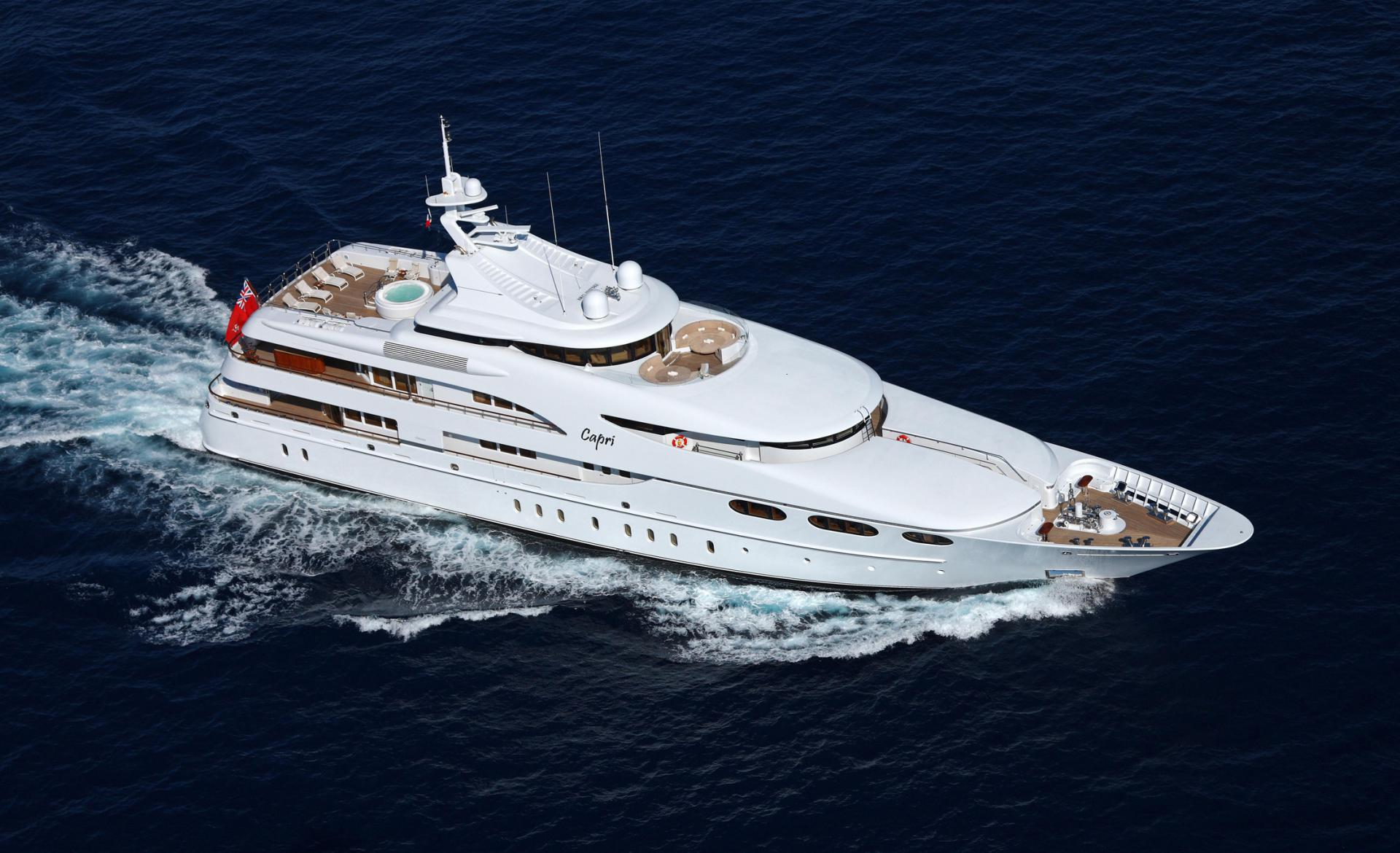 Yacht CAPRI By Lurssen - From The Air