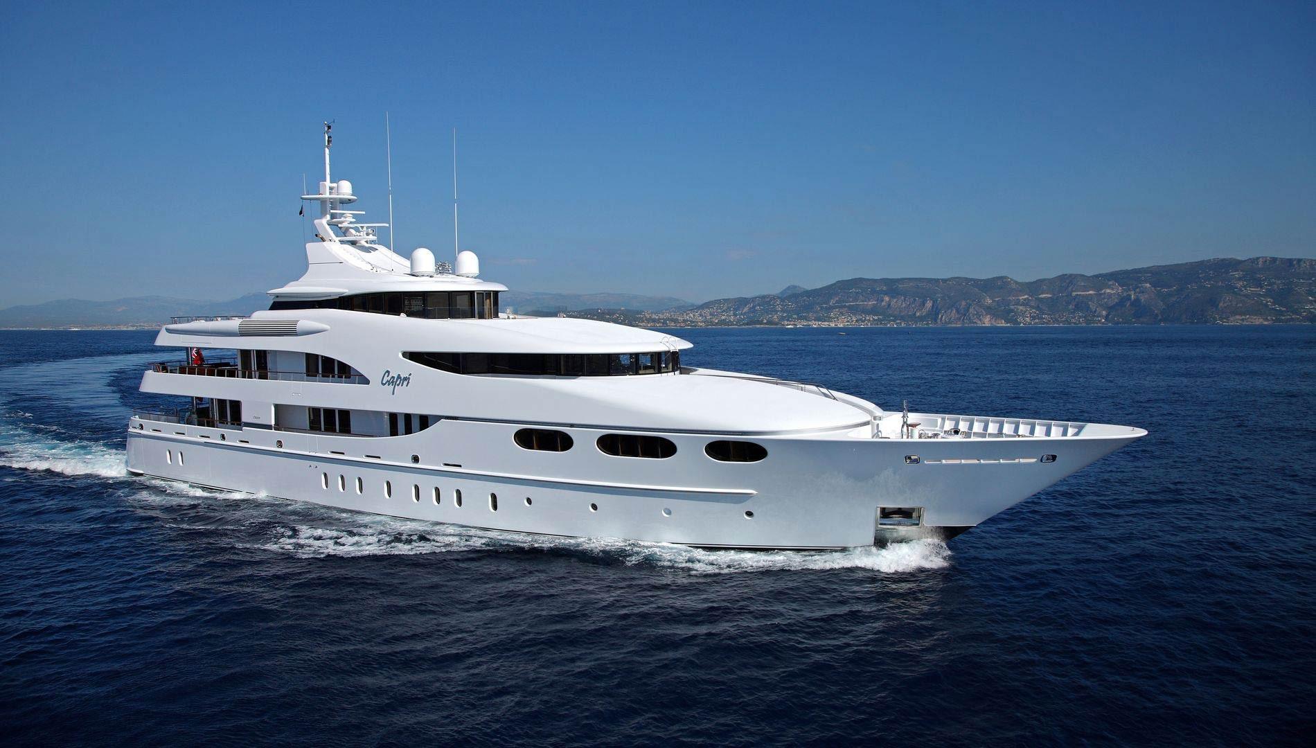 Yacht CAPRI By Lurssen - Underway In The French Riviera