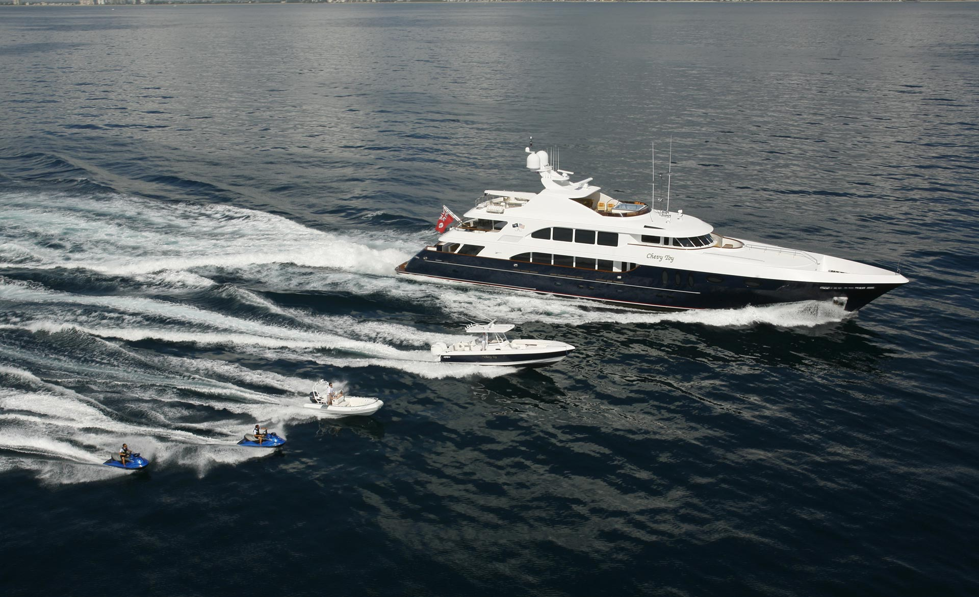 Yacht COCKTAILS - By Trinity Yachts - Profile With Tenders