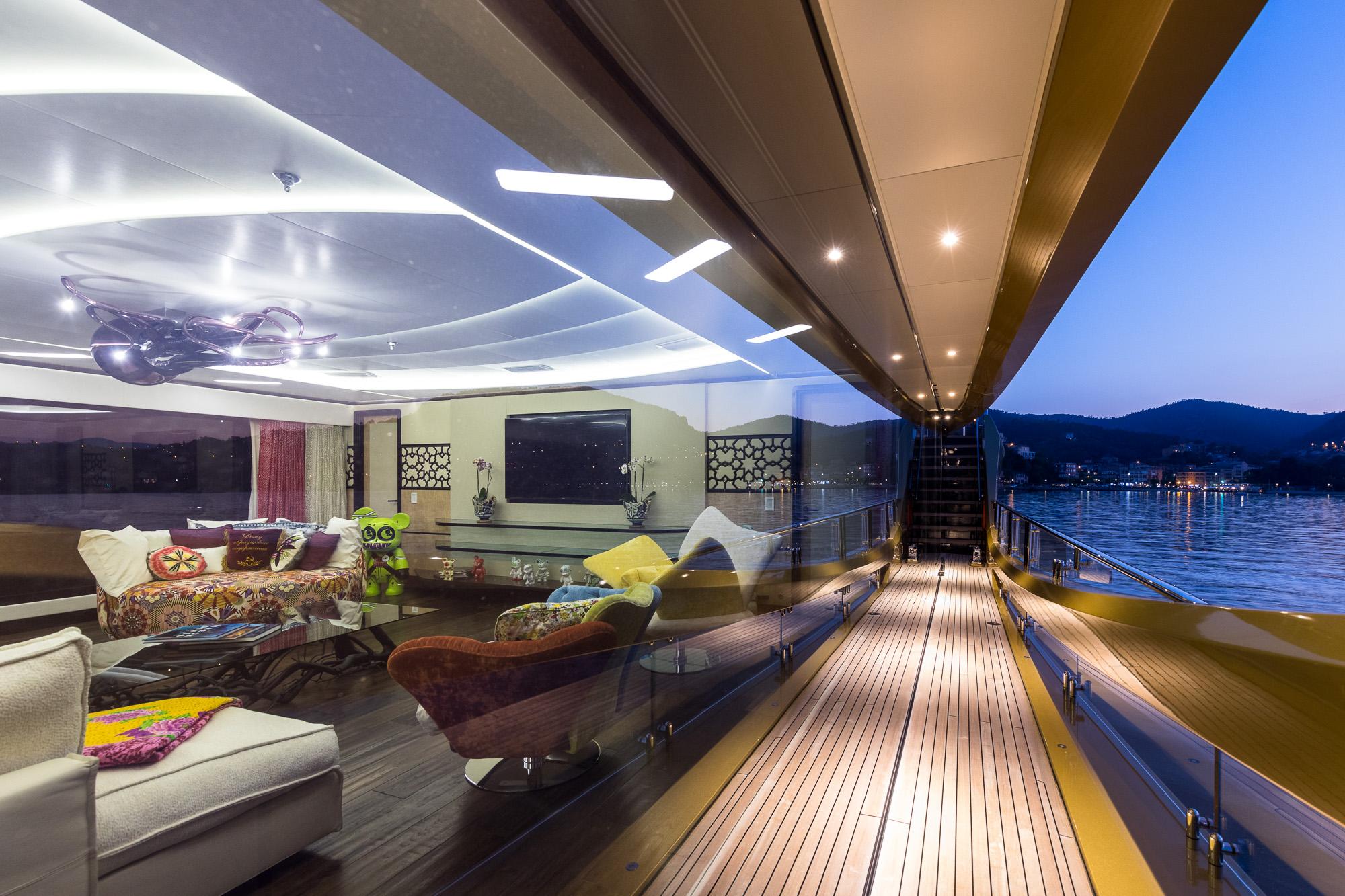 Yacht KHALILAH By Palmer Johnson - Side Deck, Mediterranean