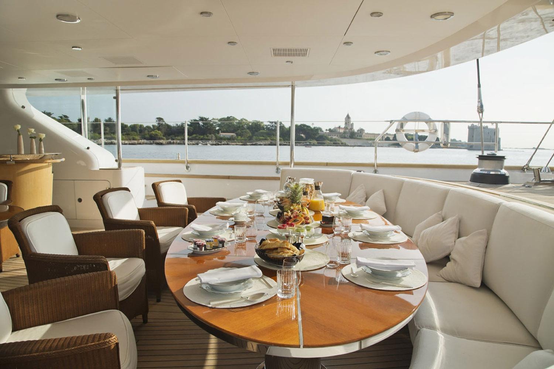 Yacht PARSIFAL III By Perini Navi - Al Fresco Dining On Aft Deck, Mediterranean