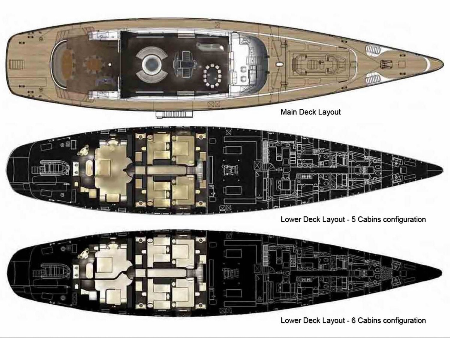 Yacht PARSIFAL III By Perini Navi - General Arrangement Layout