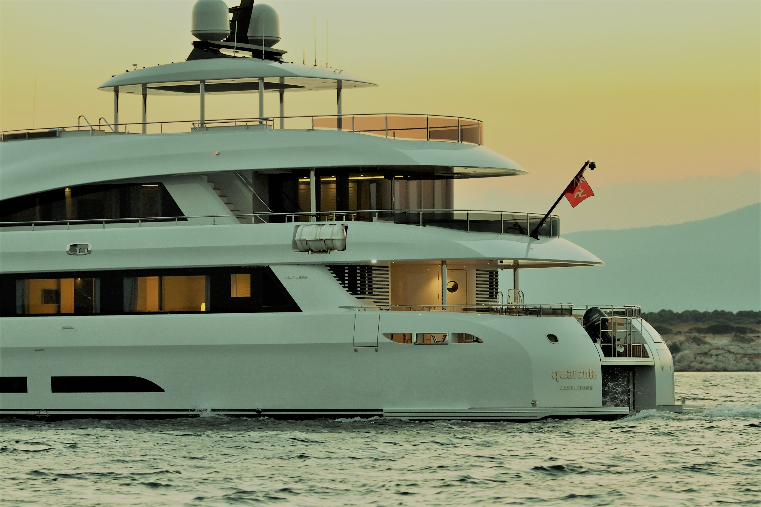 Yacht QUARANTA By Curvelle - Side Profile