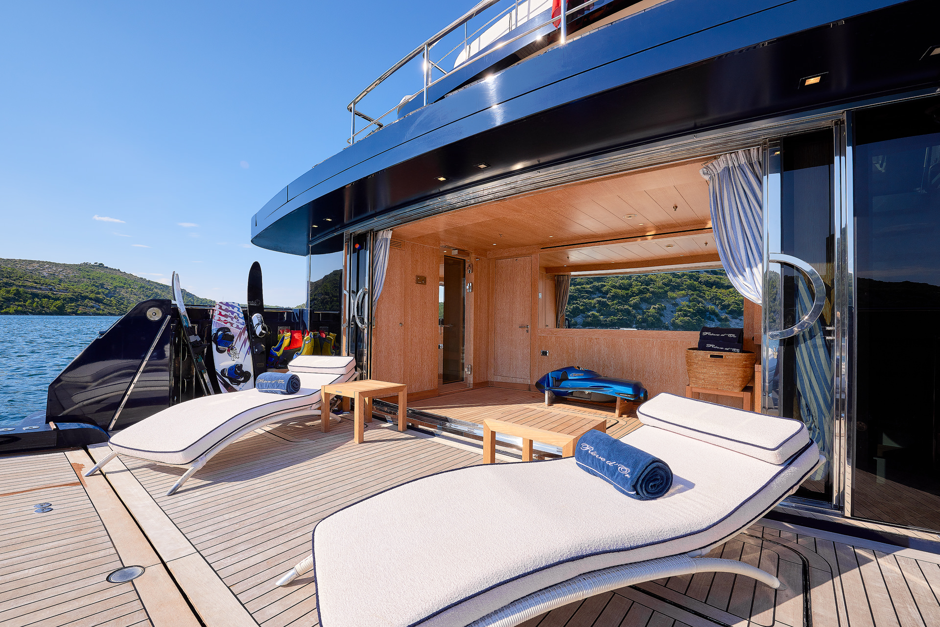 Yacht REVE D'OR By Sanlorenzo  - Aft Wellness And Water Toy Room