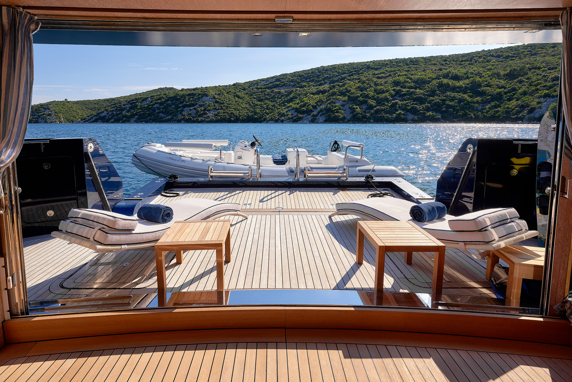 Yacht REVE D'OR By Sanlorenzo - Swim Platform And Tender