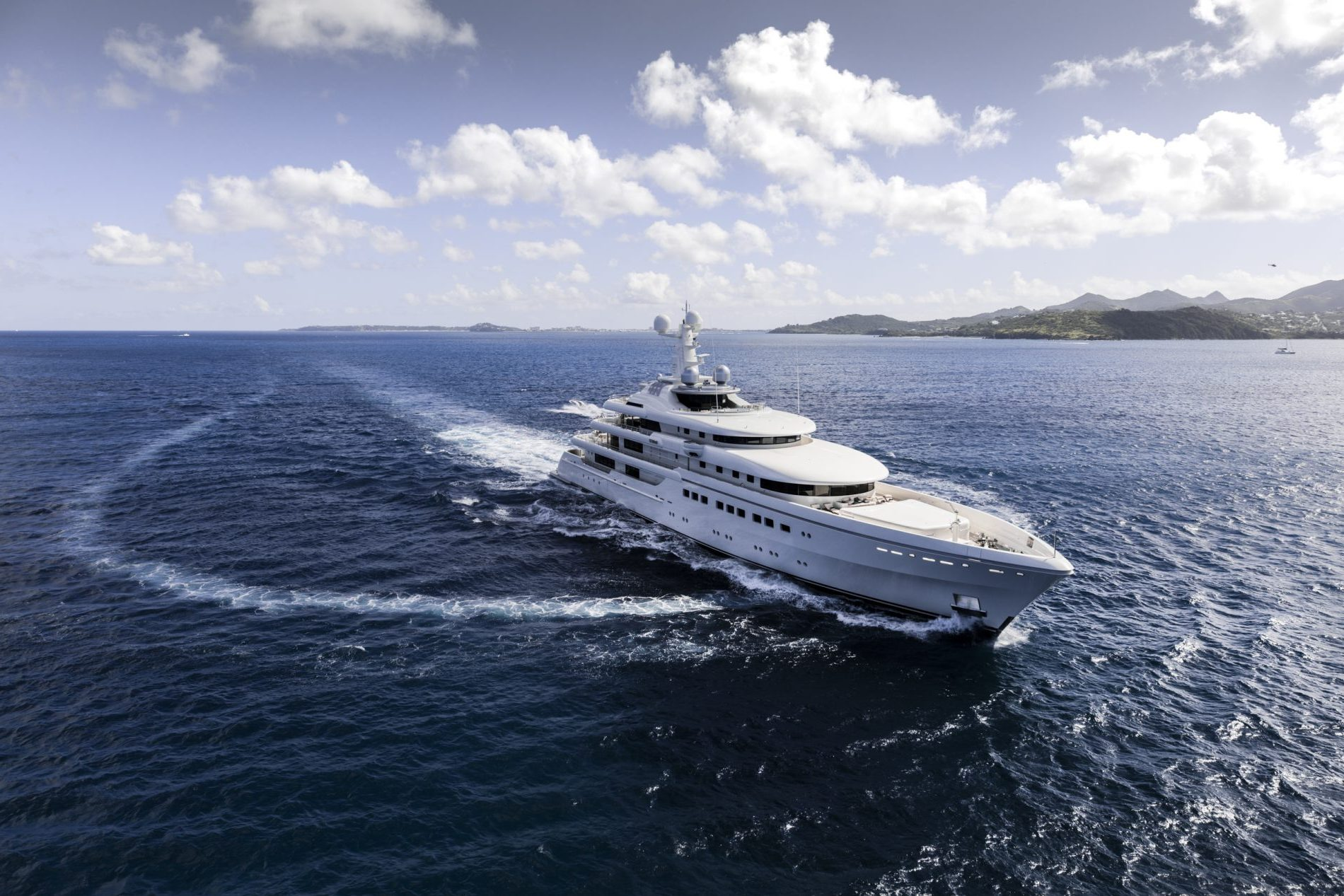 Yacht RoMEA By Abeking & Rasmussen - Underway, Caribbean