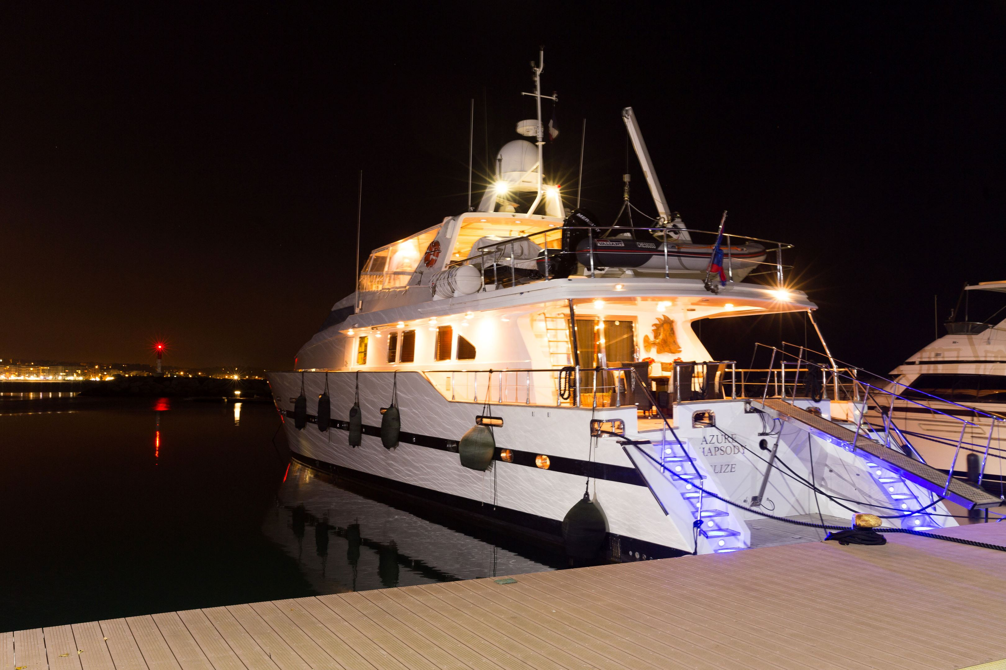 Docked at night