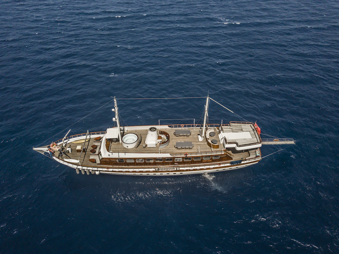 Aerial Of The Yacht
