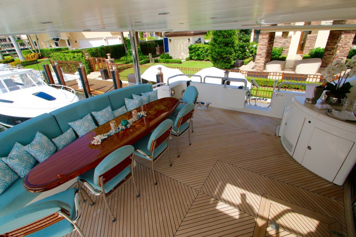 Alfresco Dining On Aft Deck