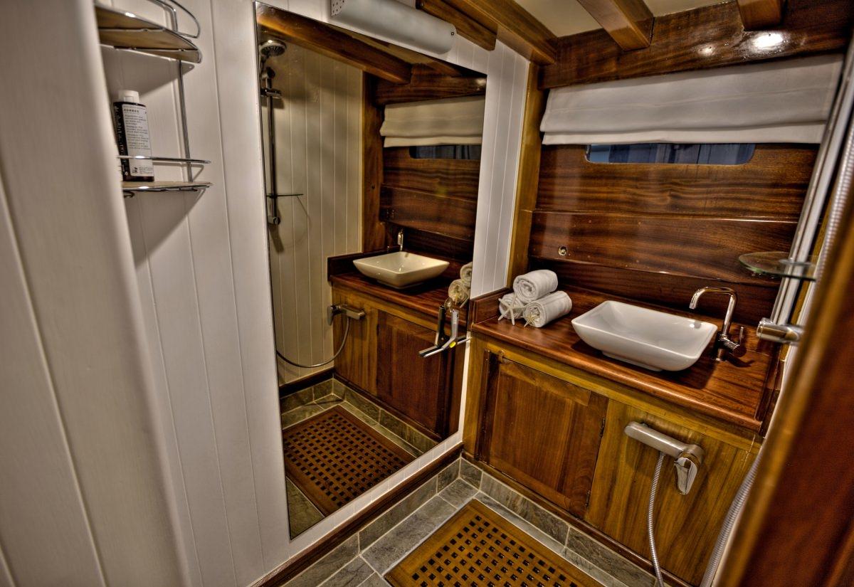 Guest En Suite Bathroom: LADY ELIZABETH Yacht Charter Details, Turkish Gulet
