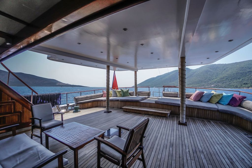 Huge Aft Deck Lounging And Sunbathing Area