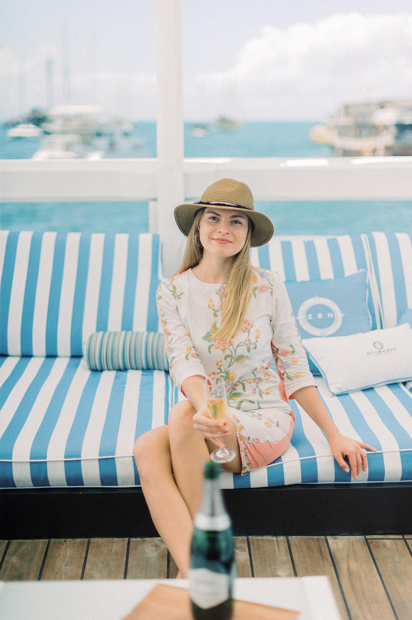 Lady On A Yacht