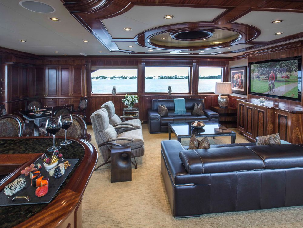 Skylounge Is Fitted With A Lounge Area Facing A Large Screen TV