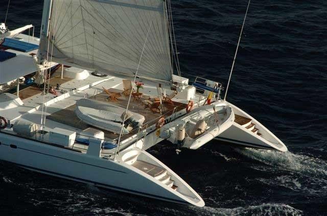 Aft Aspect On Yacht DOUCE FRANCE