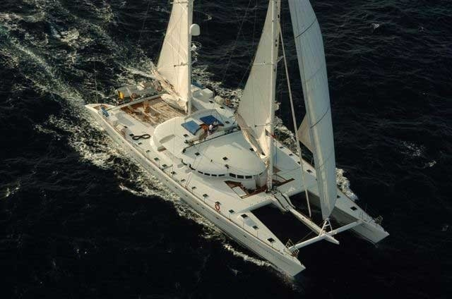 From Above Aspect On Board Yacht DOUCE FRANCE