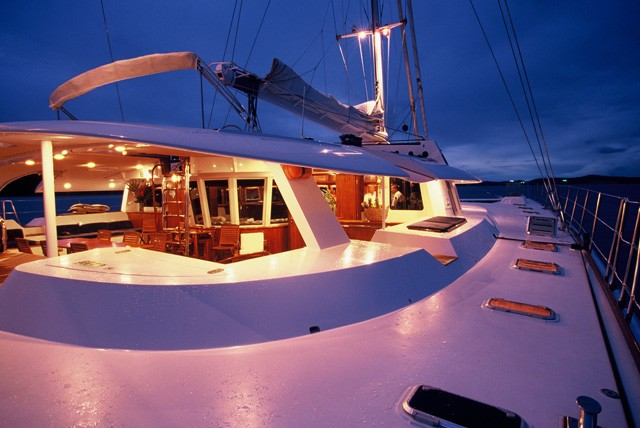 Evening: Yacht DOUCE FRANCE's Deck Image