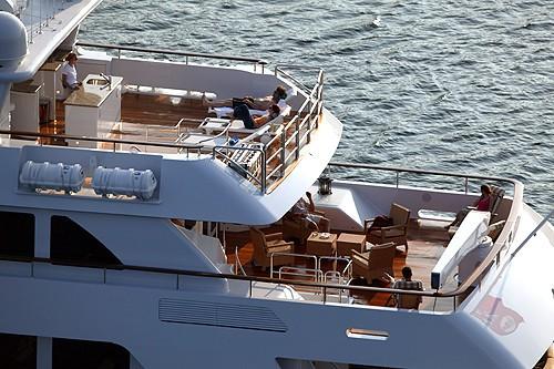 Sun Deck With Bridgedeck Deck On Yacht FOUR WISHES