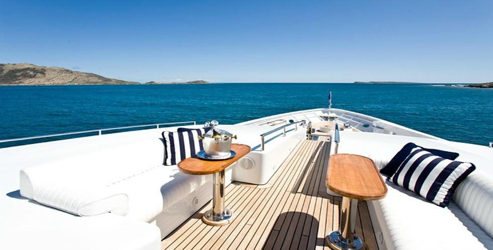 Sun Deck Aboard Yacht TE MANU