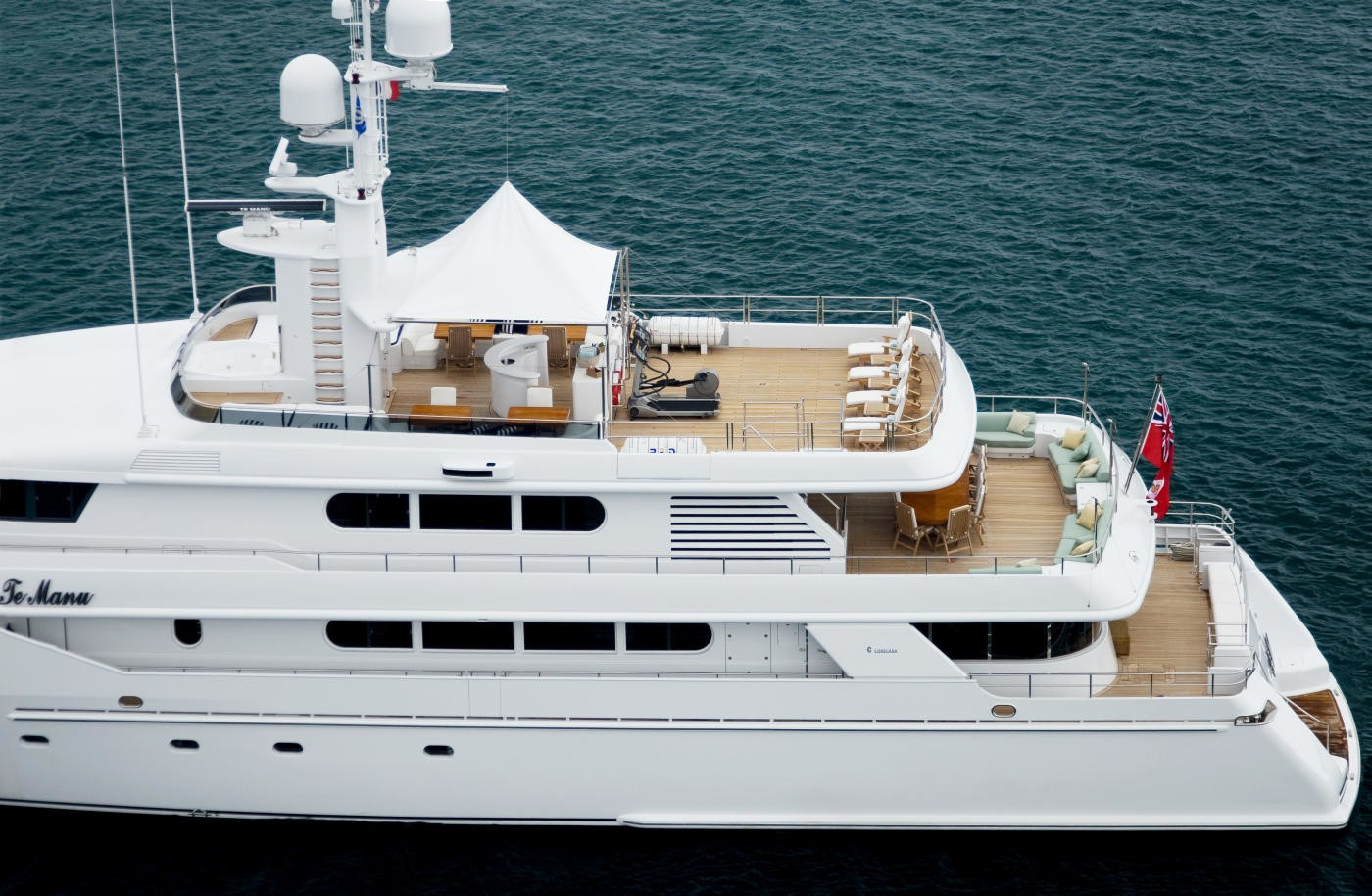 The 53m Yacht TE MANU