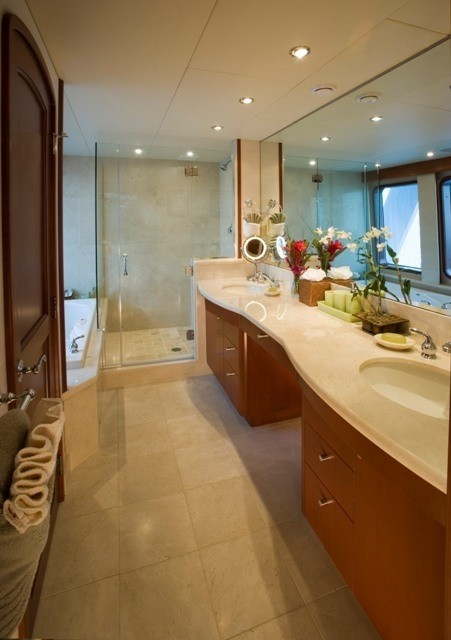 Main Master Bathroom On Board Yacht STARGAZER
