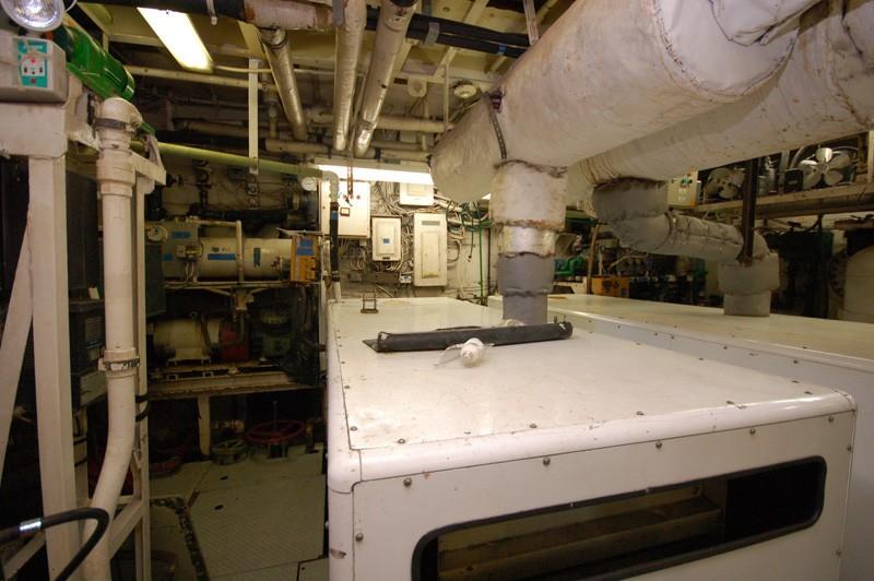 Engine Area On Yacht STARGAZER