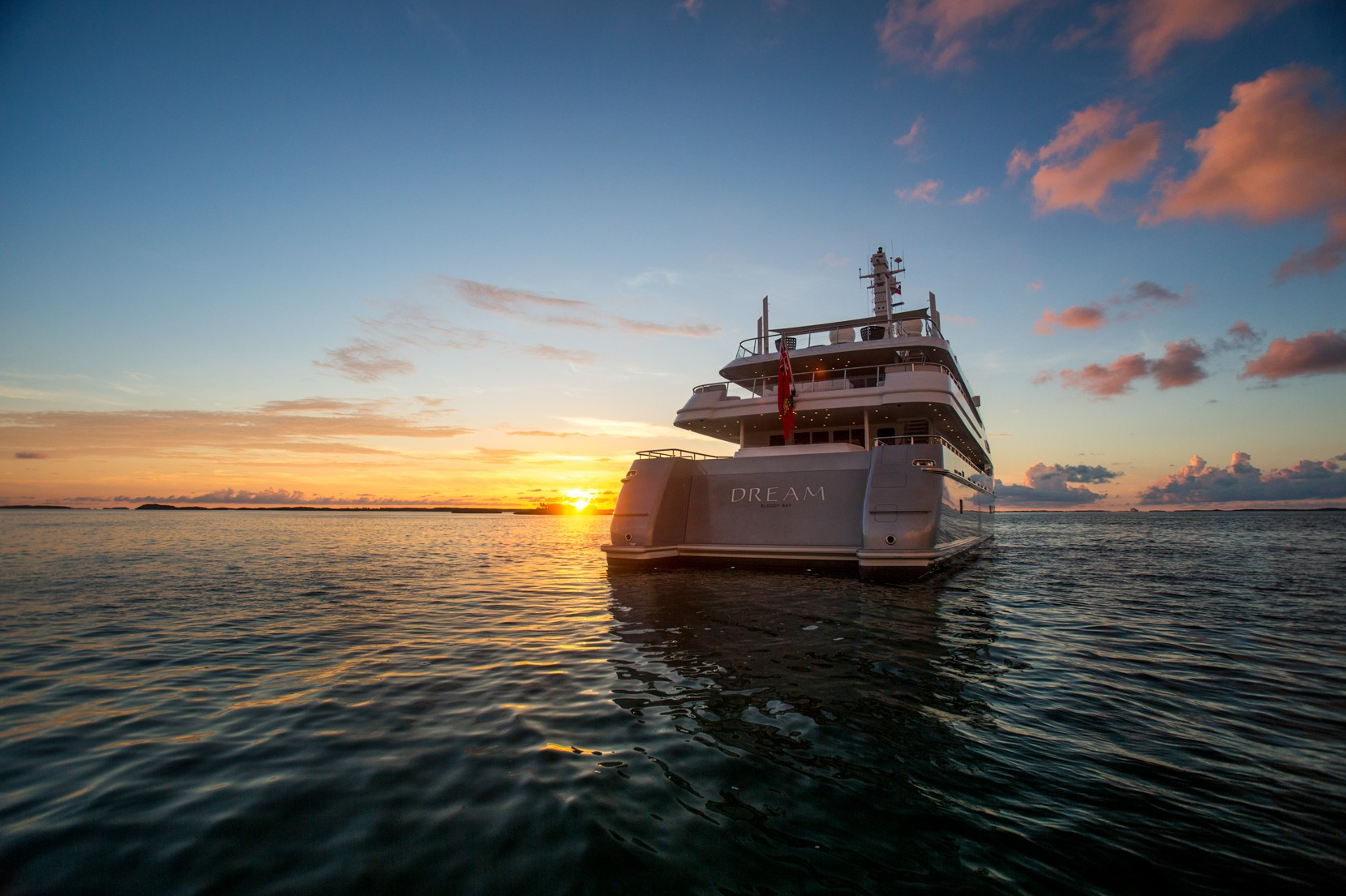 Yacht DREAM by Abeking & Rasmussen - Aft Shot at Sunset