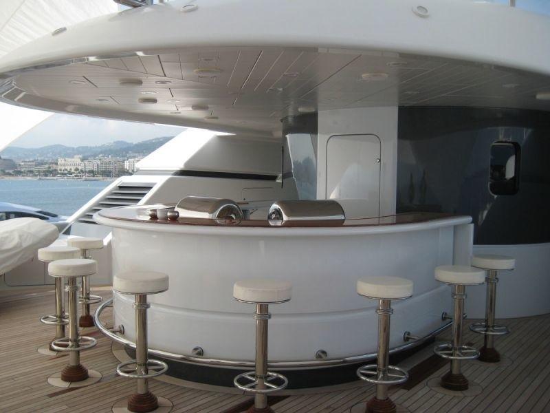 Drinks Bar Aboard Yacht SARAH