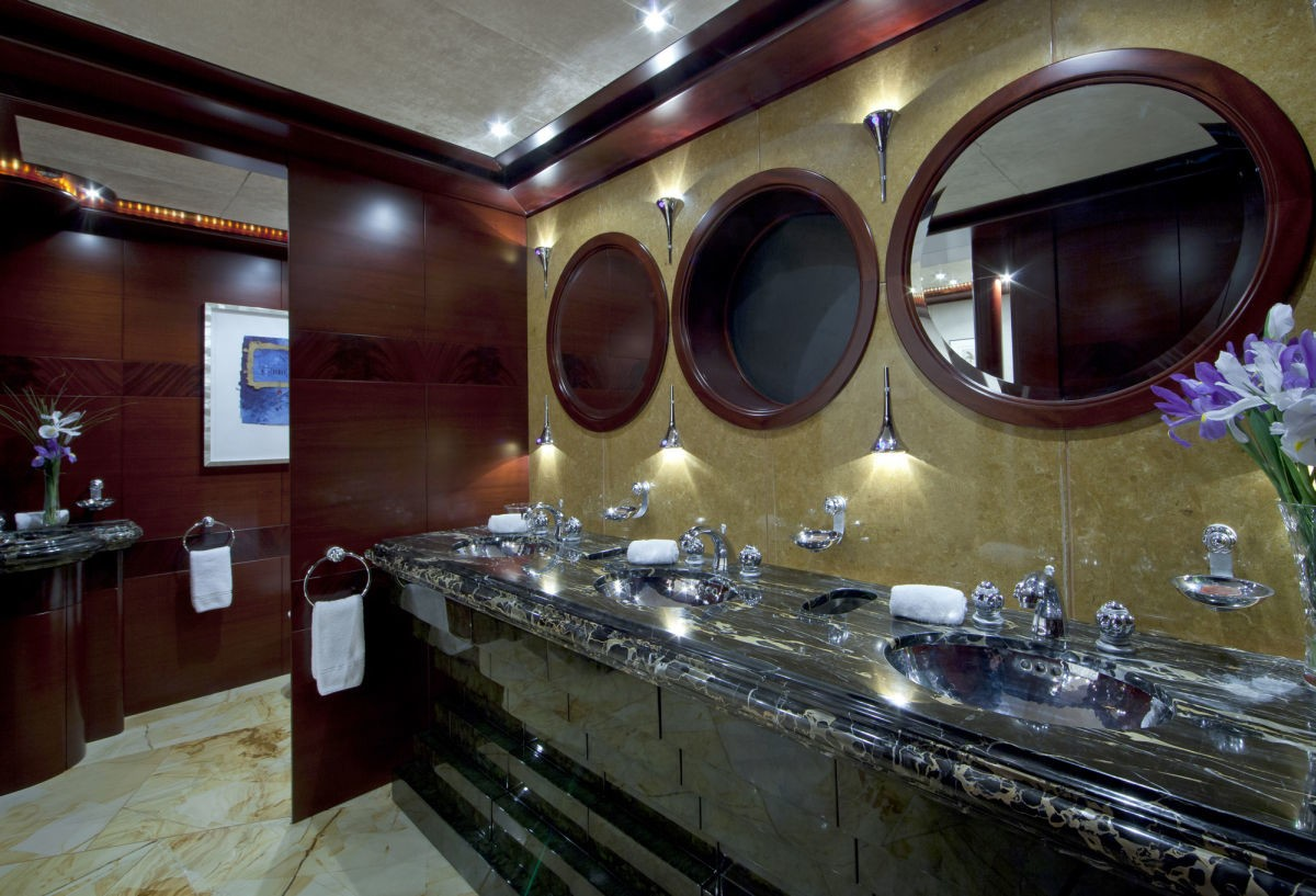 Guest's Daytime Toilet Aboard Yacht SARAH