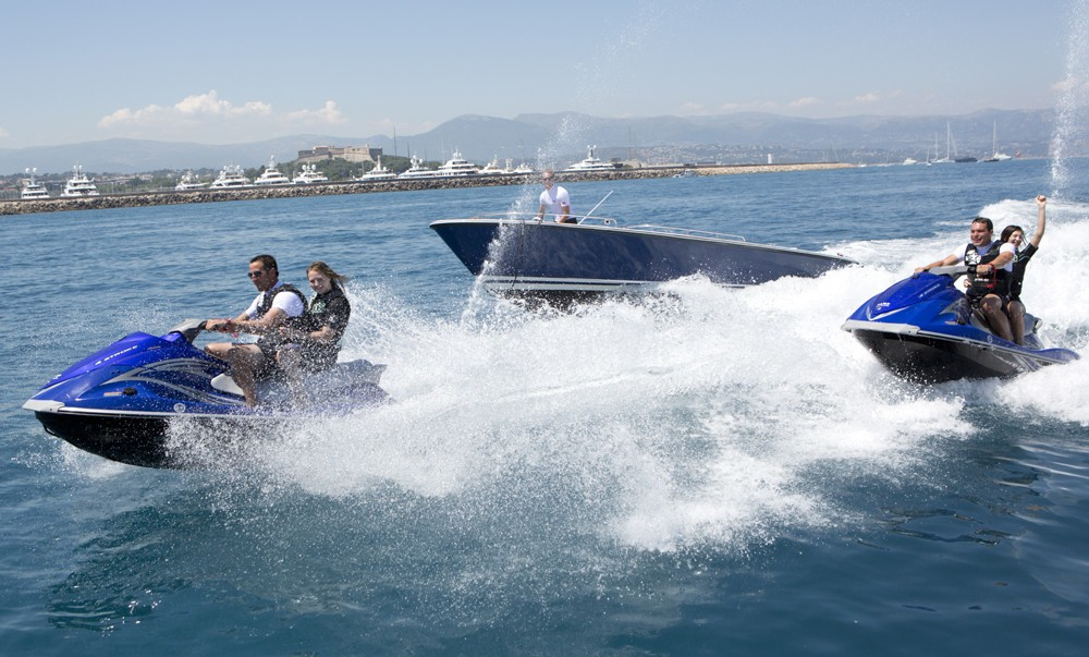 Ship's Tenders With Wave-runners Aboard Yacht SARAH