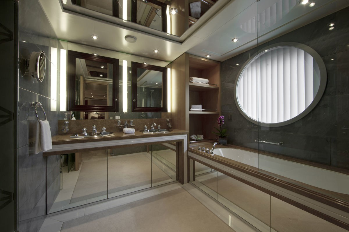 Guest's Bath Aboard Yacht SARAH