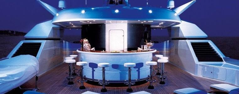 Evening: Yacht SARAH's Drinks Bar Photograph
