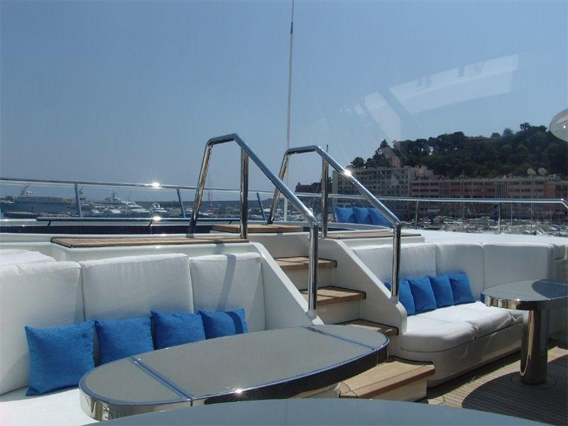 Sun Deck Swimming Pool On Yacht LADY S