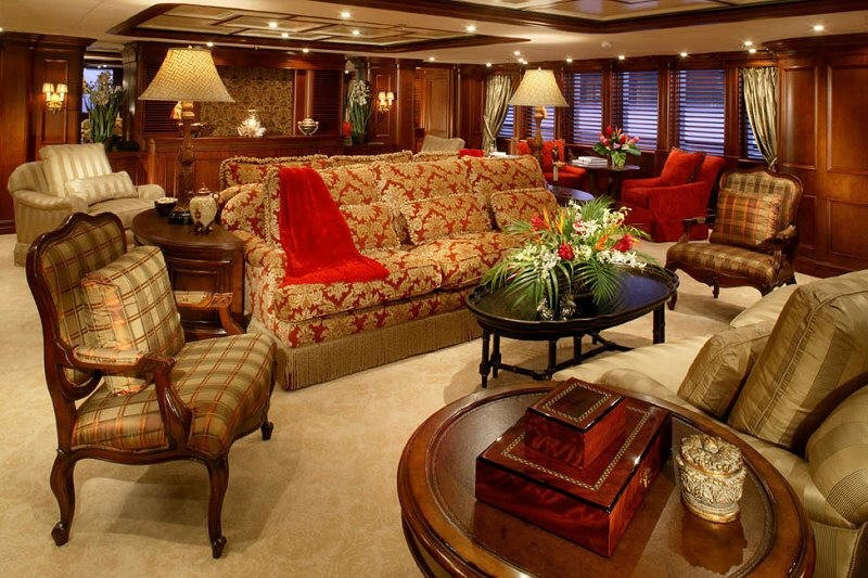 Saloon Aboard Yacht NOMAD
