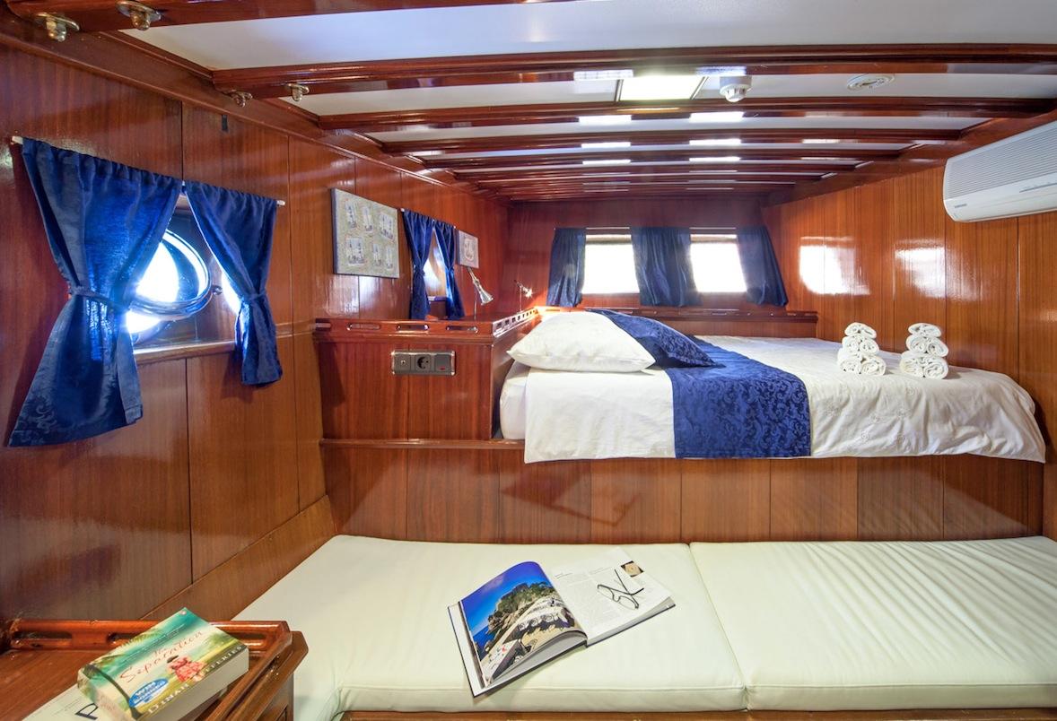 Aft double guest cabin