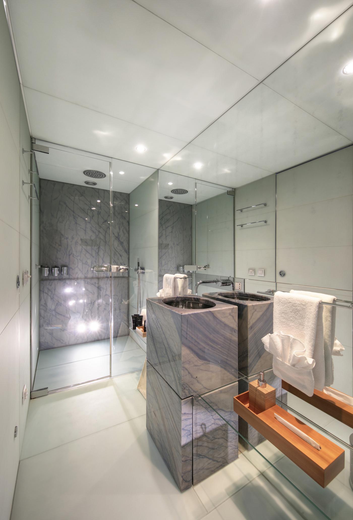 Blue Magic Bathroom VIP Cabin