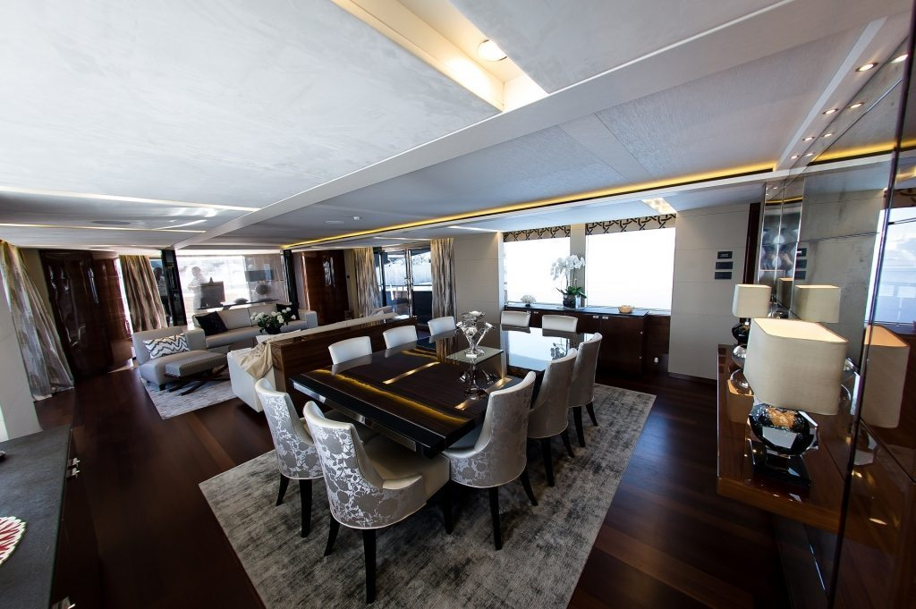 Dining Area In The Saloon Photo Princess Yachts