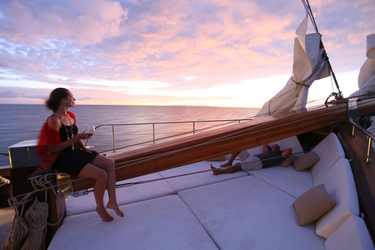 Evening Aboard LAMIMA