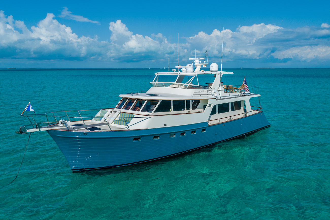 HALCYON SEAS  At Anchor