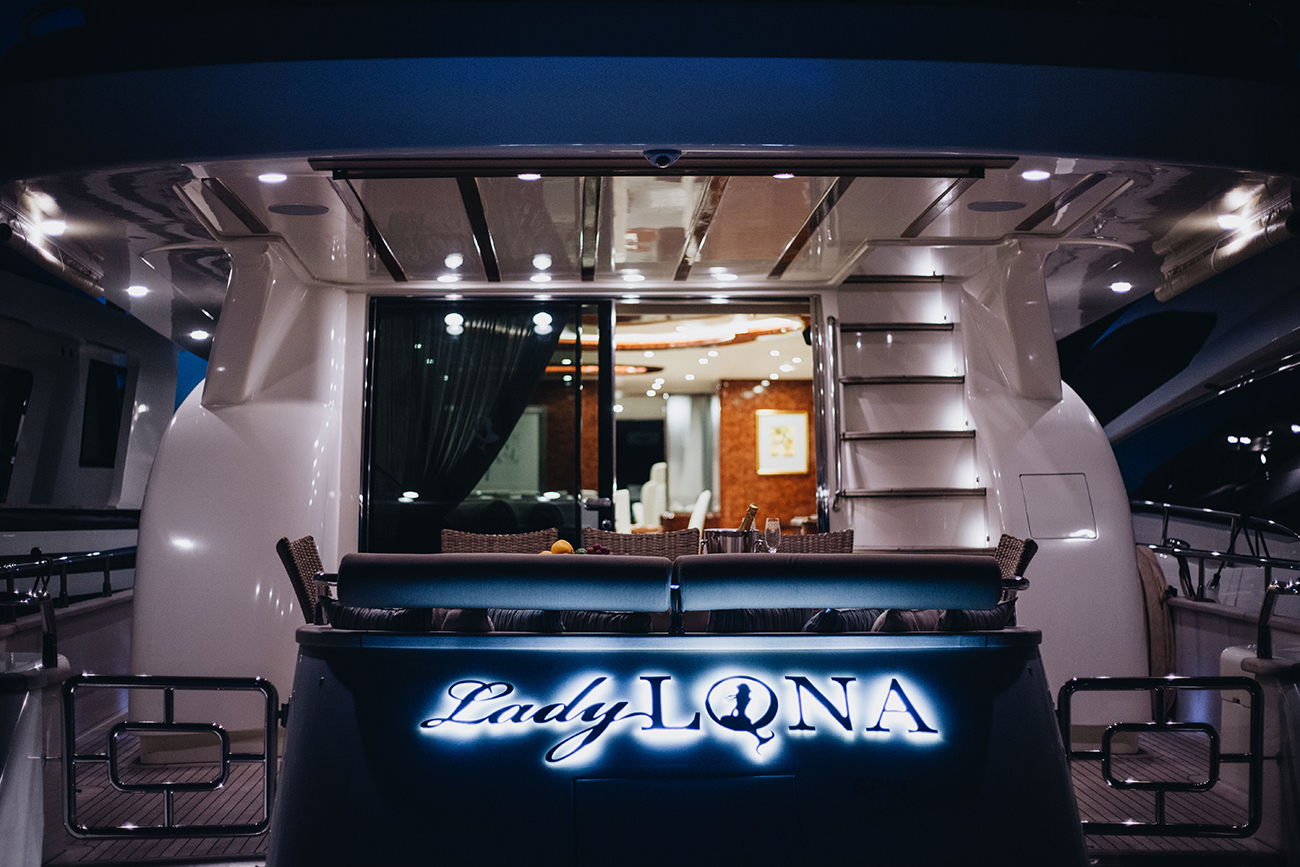 Lady Lona Aft View At Night