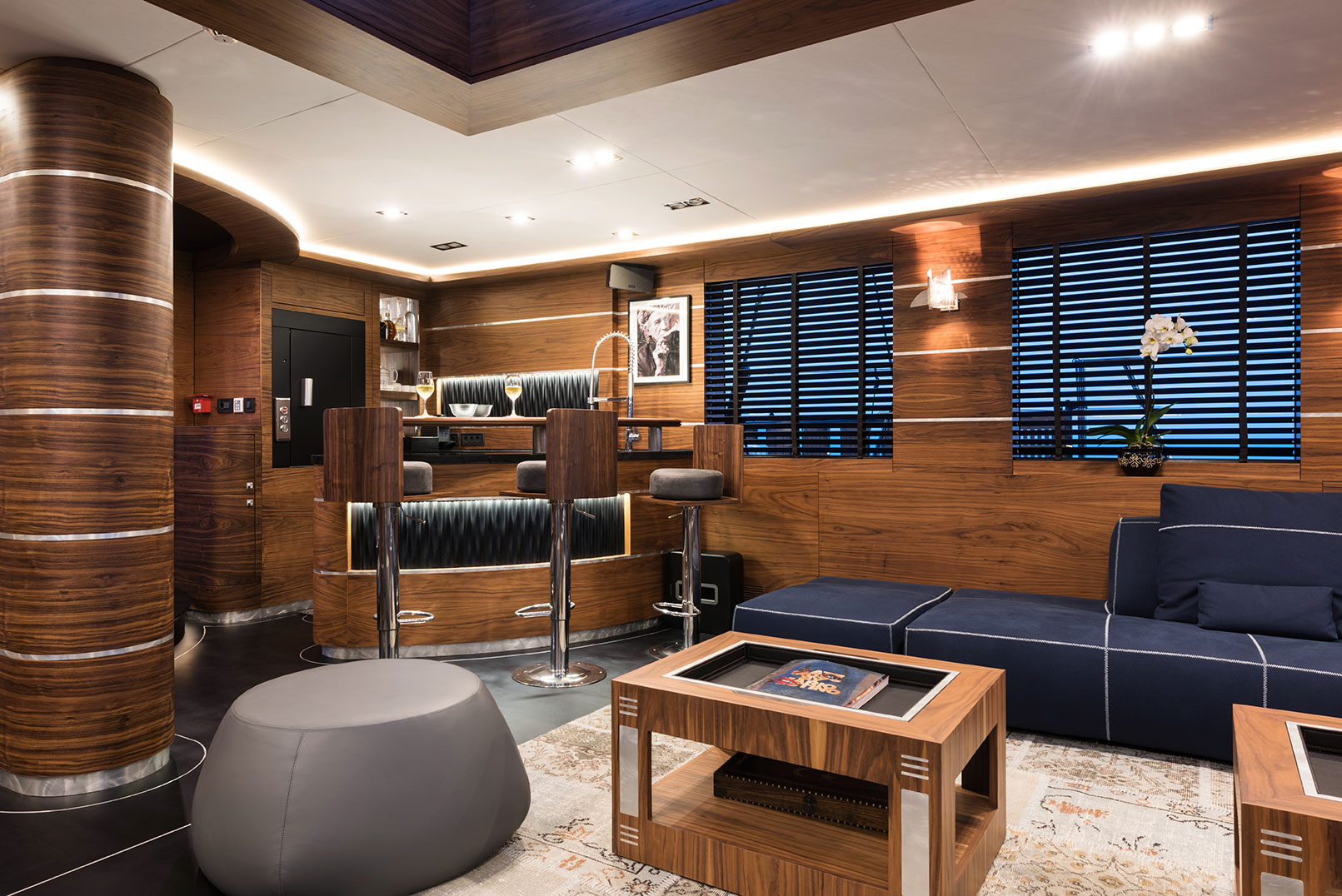 Salon With A Bar