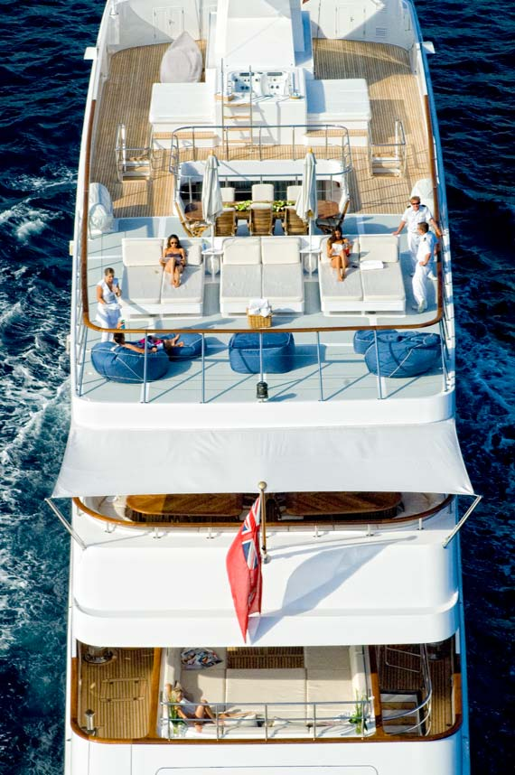 Yacht ILLUSSION By Feadship - The Aft Decks From The Air