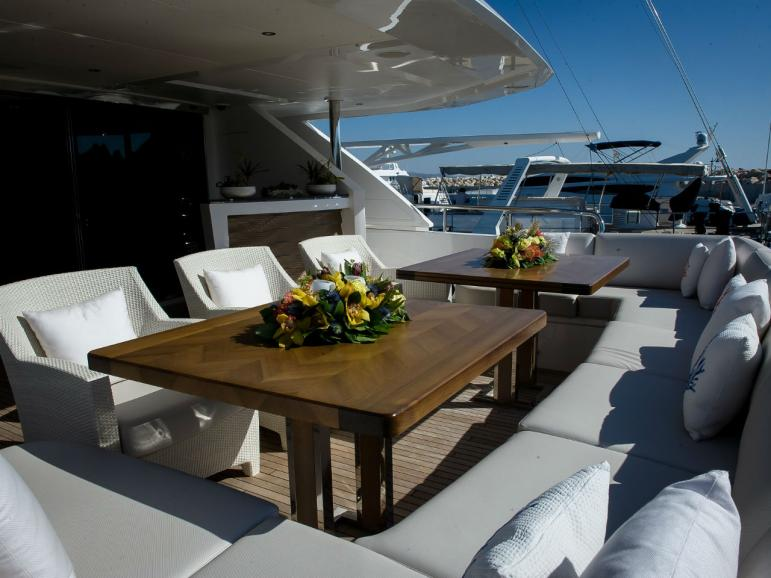 Aft Deck Seating Area