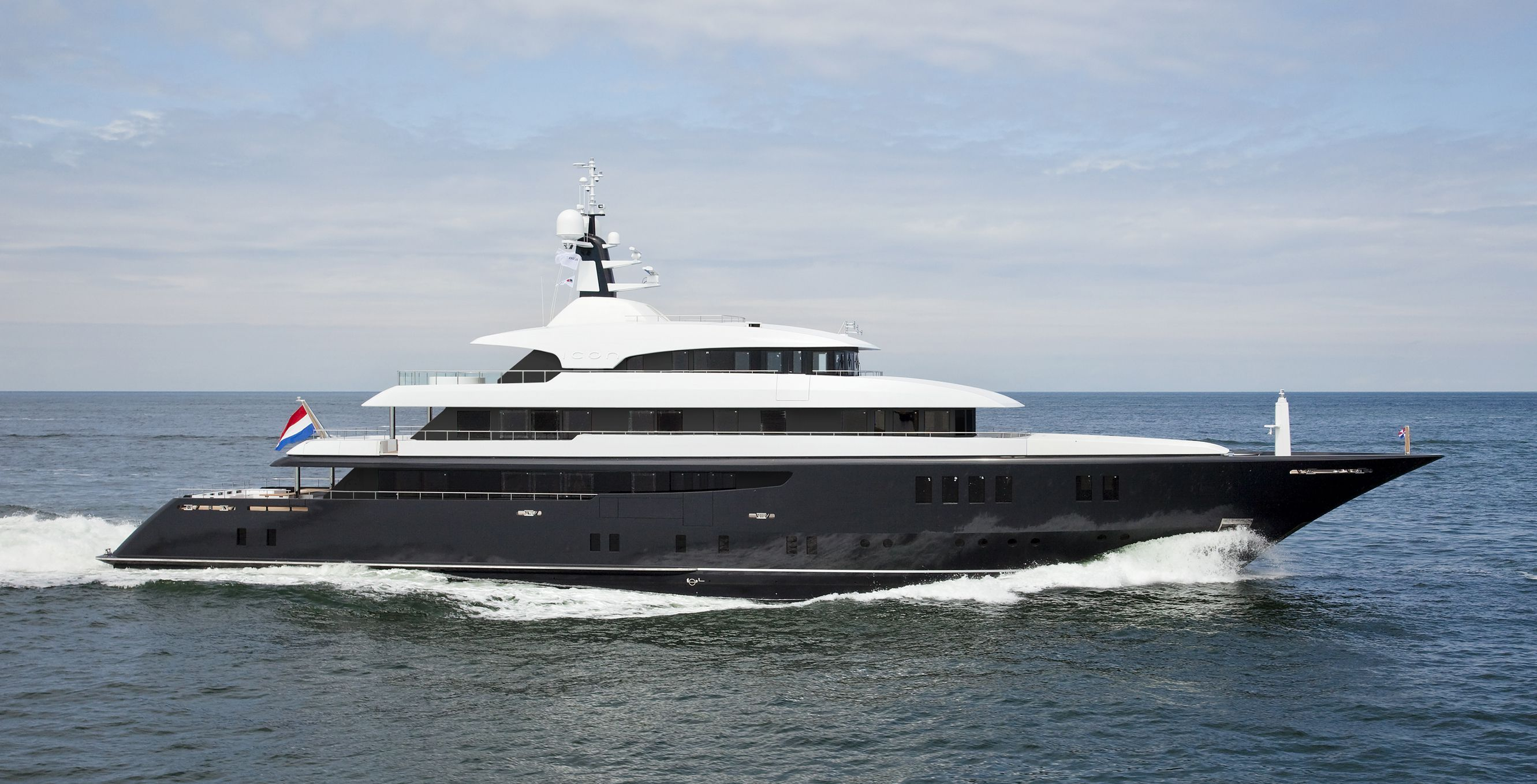 68m mega yacht ICON by Icon Yachts - Profile view