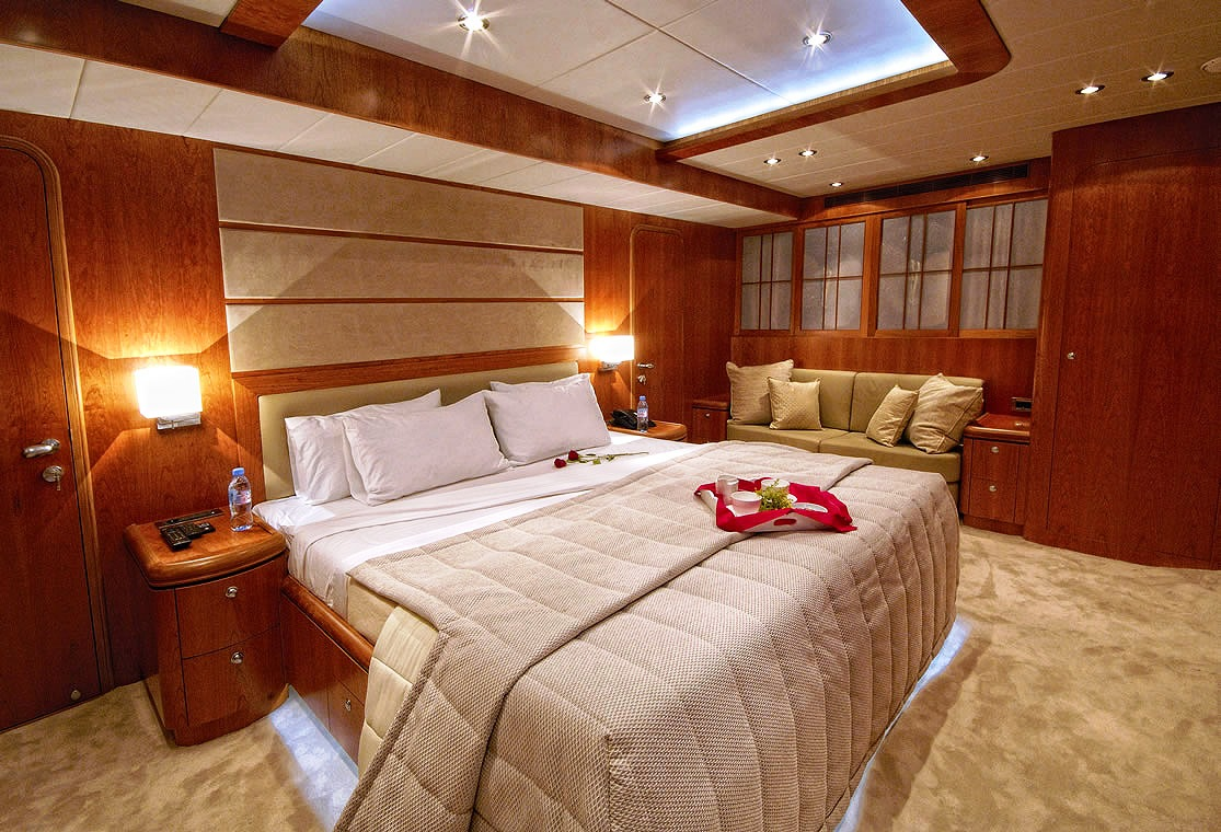 Image result for superyacht master cabin turndown
