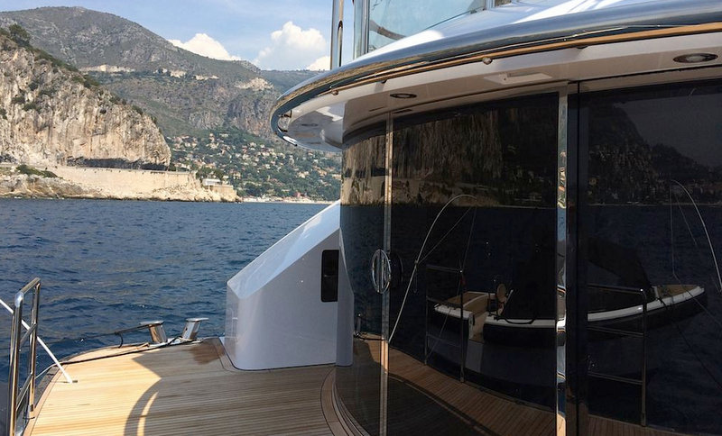 Aboard superyacht Lady Christina