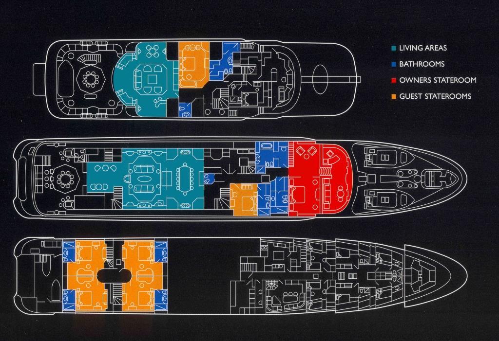 Amels yacht CALYPSO - Layout