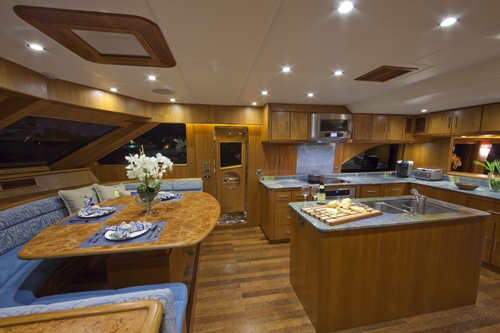 Andiamo 85 -  Galley and Dining